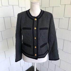 J. Crew Lady Jacket in Double-Serge Wool Size 4